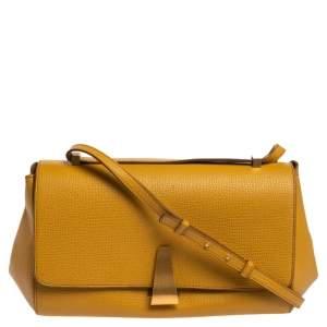 Bottega Veneta Yellow Leather BV Angle Shoulder Bag