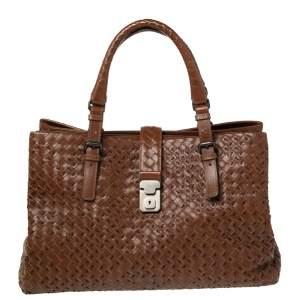 Bottega Veneta Brown Intrecciato Leather Limited Edition Lavorazione Medium Roma Tote
