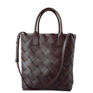 Bottega Veneta Burgundy Leather Maxi Cabat Tote Bag