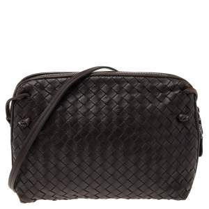 Bottega Veneta Brown Leather Nodini Shoulder Bag