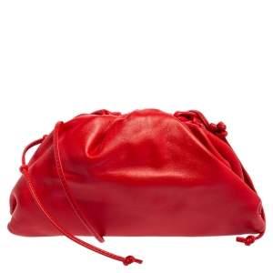 Bottega Veneta Red Leather Mini Pouch Bag