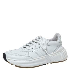 Bottega Veneta White Leather Speedster Sneakers Size 37