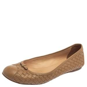 Bottega Veneta Beige Leather Ballet  Flats Size 39