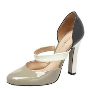 Bottega Veneta Multicolor Patent Leather Round Toe Pumps Size 37.5