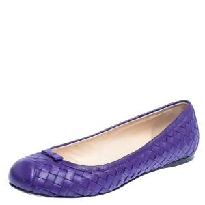 Bottega Veneta Purple Leather  Ballet Flats Size 39