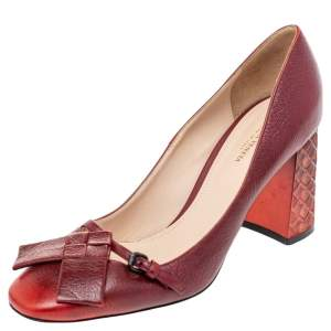 Bottega Veneta Red leather Ombre Cherbourg Pumps Size 38