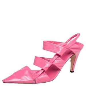 Bottega Veneta Pink Leather Slingback Sandals Size 39