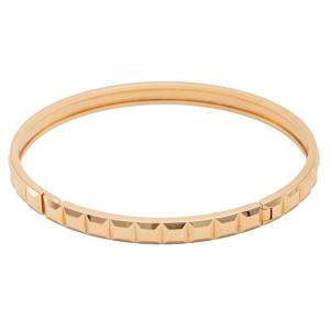 Boucheron 18k Rose Gold Quatre Clou de Paris Bangle Bracelet Size 16