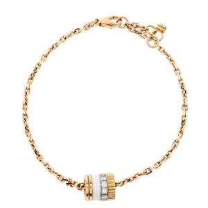 Boucheron Quatre White Edition Ceramic Diamond 18K Three Tone Gold Bracelet
