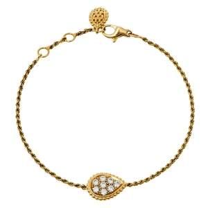 Boucheron Serpent Boheme Diamond 18k Yellow Gold S Motif Bracelet