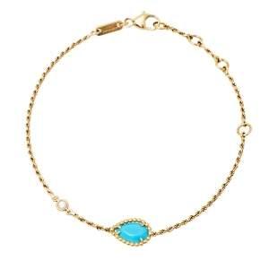 Boucheron Serpent Bohème Turquoise 18K Yellow Gold Bracelet