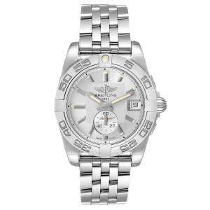 Breitling Silver Stainless Steel Galactic A37330 Women's Wristwatch 36 MM