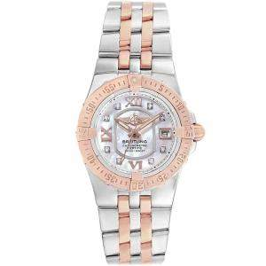 Breitling 18K Rose Gold MOP Diamond and Stainless Steel Galactic C71340 Women's Watch 30MM