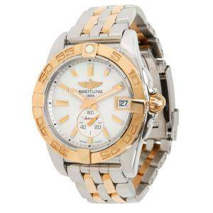 Breitling MOP 18K Rose Gold and Stainless Steel Galactic C3733012/A724 Women's Wristwatch 36MM