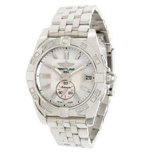 ساعة يد نسائية بريتلينغ غالاغتيك 36 A3733012/A716  ستانلس ستيل بيضاء 36 مم
