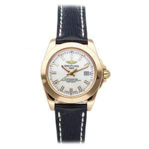 ساعة يد نسائية بريتلينغ غالاكتيك إصدار محدود اتش7133012/ايه802 ذهب وردي عيار 18 صدف 32 مم