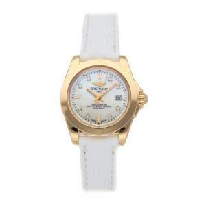 ساعة يد نسائية بريتلينغ غالاكتيك اتش7133012/ايه803 ذهب وردي عيار 18 ألماسات صدف 32 مم