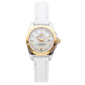 Breitling MOP Diamonds 18K Rose Gold Galactic C7234812/A792 Women's Wristwatch 29 MM