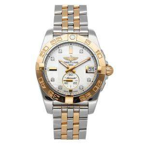 Breitling MOP Diamonds 18K Yellow Gold And Stainless Steel Galactic C37330121A2C1 Women's Wristwatch 36 MM