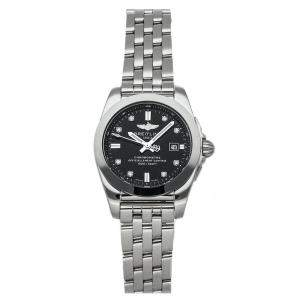 Breitling Black Diamonds Stainless Steel Galactic W7234812B1A1 Women's Wristwatch 29 MM