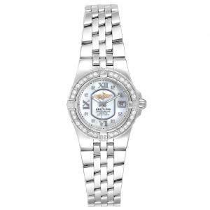 Breitling MOP Diamonds Stainless Steel Starliner A71340 Women's Wristwatch 30 MM
