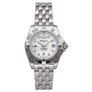 Breitling White Diamonds Stainless Steel Galactic A71356L2/A708 Women's Wristwatch 32 MM