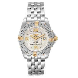 Breitling Silver Diamonds 18K Yellow Gold And Stainless Steel Cockpit B71356 Women's Wristwatch 32 MM