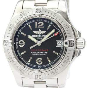 Breitling Black Stainless Steel Colt Oceane Quartz A77380 Women's Wristwatch 33 MM