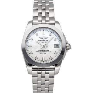 ساعة يد نسائية بريتلينغ غلاكتيك دبليو7433012/أيه780 ستانلس ستيل ألماس صدف 36 مم