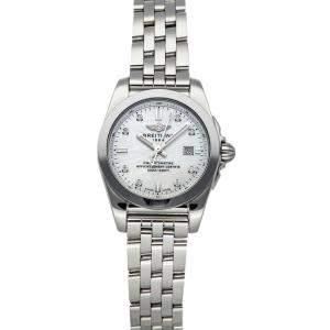 Breitling MOP Diamonds Galactic T W7234812/A785 Women's Wristwatch 29 MM