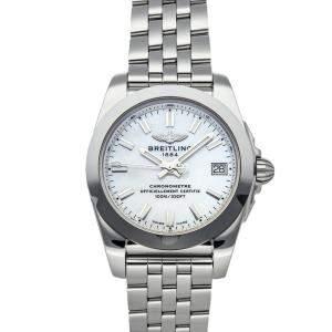 ساعة يد نسائية بريتلينغ غلاكتيك دبليو 7433021/أيه 770 ستانلس ستيل صدف 36 مم