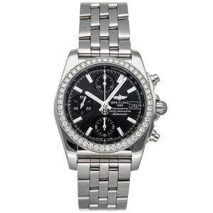 ساعة يد نسائية برتلينغ كرونومات أيه1331053/ بي دي92 ستانس ستيل ألماس سوداء 38 مم