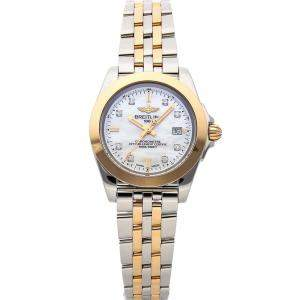 Breitling MOP Diamonds 18K Rose Gold And Stainless Steel Galactic Sleek Edition C7133012/A803 Women's Wristwatch 32 MM