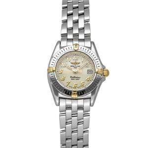 Breitling Ivory 18K Yellow Gold And Stainless Steel Callistino B5234512/A435 Women's Wristwatch 26 MM