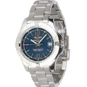 """ساعة يد نسائية بريتلينغ """"كولت ليدي ايه7738811/سي908"""" ستانلس ستيل زرقاء 33 مم"""