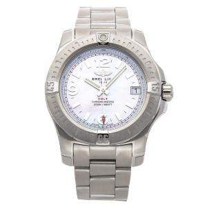 Breitling White MOP Stainless Steel Colt A7438911/A772 Women's Wristwatch 36 MM