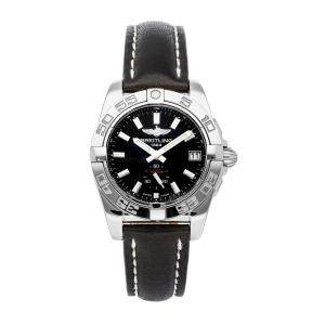 Breitling Black Stainless Steel Galactic A3733012/BE77 Women's Wristwatch 36 MM