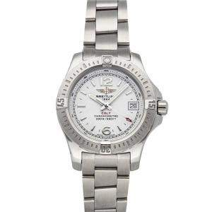 Breitling Silver Stainless Steel Colt A7738811/G793 Women's Wristwatch 33 MM