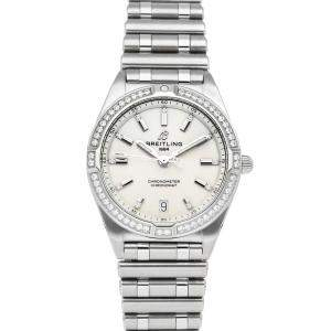 Breitling White Diamonds Stainless Steel Chronomat A77310591A1A1 Women's Wristwatch 32 MM