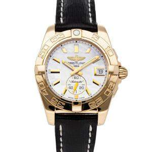Breitling Silver 18k Rose Gold Galactic H3733012/A724 Women's Wristwatch 36 MM