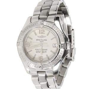 Breitling Silver Stainless Steel Colt Oceane A77350 Women's Wristwatch 33 MM
