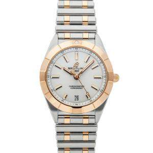 Breitling Silver 18K Rose Gold And Stainless Steel Chronomat U77310101A1U1 Women's Wristwatch 32 MM