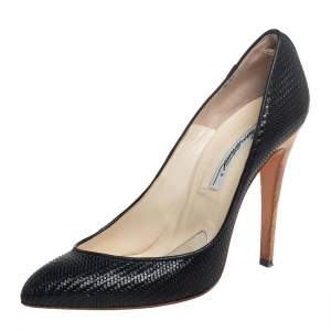 Brian Atwood Black Leather Pumps Size 39