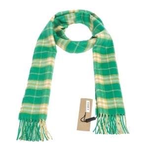 Burberry Tourmaline Green Vintage Check Cashmere Scarf