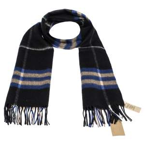 Burberry Bright Cobalt The Classic Check Cashmere Scarf