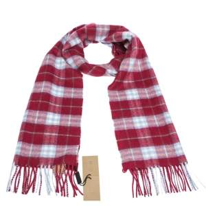 Burberry Damson Pink Vintage Check Cashmere Scarf