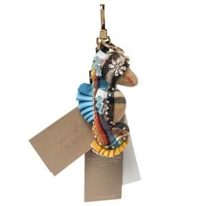 دلاية حقيبة بربري حصان بحر مزخرفة كريستال قماش مربعات متعدد الألوان