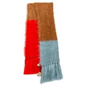 Burberry Color Block Mohair Silk Blend Scarf