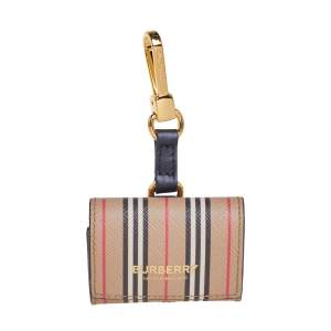 Burberry Beige Icon Stripe Coated Canvas AirPod Pro Case