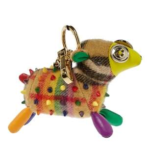 Burberry Multicolor Cashmere Studded Wendy Sheep Key Ring / Bag Charm